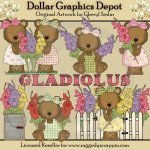 Gladiolus Bears - Clip Art - *DGD Exclusive*