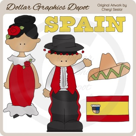 Spanish Kids - Clip Art