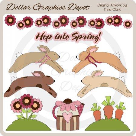 Hop Into Spring - Clip Art - $1.00 : Dollar Graphics Depot ...