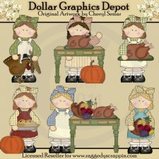 Little Darlins - Thanksgiving - Clip Art