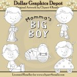 Momma's Big Boy - Digital Stamps - *DGD Exclusive*