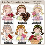 Sweet Sally - Valentines - Clip Art - *DGD Exclusive*