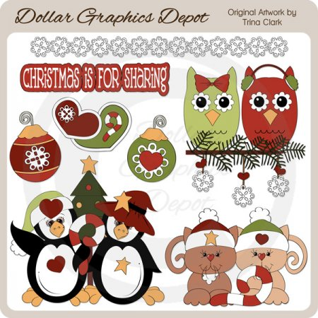 Christmas Friends - Clip Art