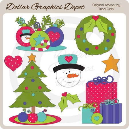 Christmas Cheer 3 - Clip Art