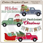 Old Fashioned Christmas - Clip Art