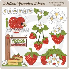 Strawberry Patch - Clip Art