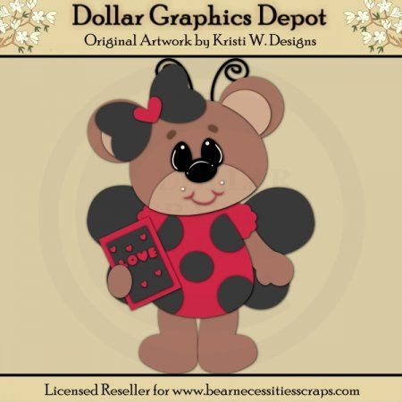 Ladybug Bear 1 - Cutting Files / Paper Piecing - *DGD Exclusive*