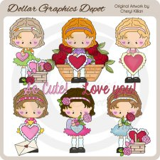 Sweetie Pie Valentines - Clip Art - *DGD Exclusive*
