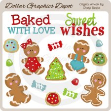 Gingerbread and Gumdrops - Clip Art