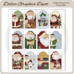 Happy Santa Sheet Tags