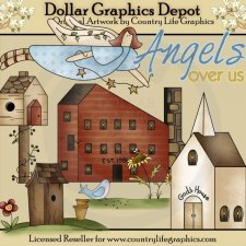 Angels Over Us - Clip Art