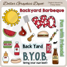 Backyard Barbeque - Clip Art