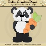 Easter Panda 3 - Cutting Files / Paper Piecing - *DGD Exclusive*