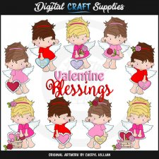 Little Valentine Angels - Clip Art - *DGD Exclusive*
