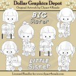 Big Sister - Little Sister - Digital Stamps - *DGD Exclusive*