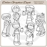 Back To School Kids 3 - Digital Stamps