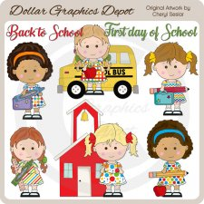Back To School Cuties - Clip Art