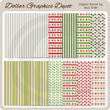 Christmas Patterns 1 - Scrap Papers
