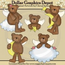 Little Angel Bears - Clip Art