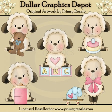 Baby Sheep - Clip Art