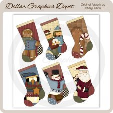Heartfelt Christmas Stockings Sheet Tags