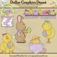 Easter Is Here - Clip Art