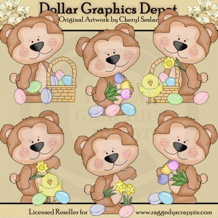 Cutie Bear - Easter - Clip Art