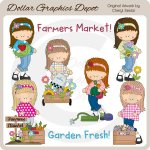 Farmers Market Teens - Clip Art - *DGD Exclusive*