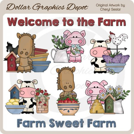 Barn Pals Farmhouse - Clip Art - *DGD Exclusive*
