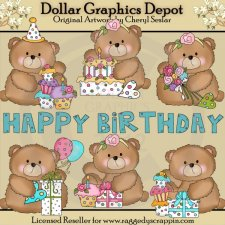 Boo Bears Birthday - Clip Art
