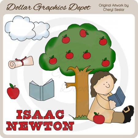 Isaac newton clip art dollar graphics depot for Apple 300 dollar book