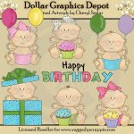 Happy Birthday Babies - Clip Art - *DGD Exclusive*