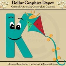 Alphabet Letter K - Cutting Files / Paper Piecing Patterns