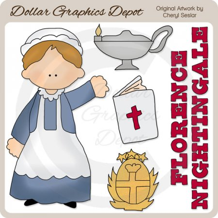 Florence Nightingale - Clip Art