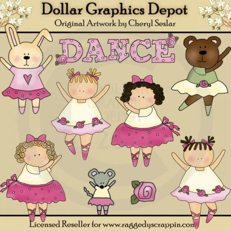 Little Dancers - Clip Art