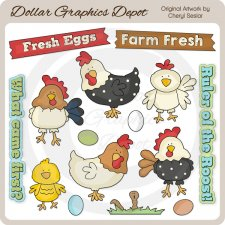 In The Chicken Coop - Clip Art