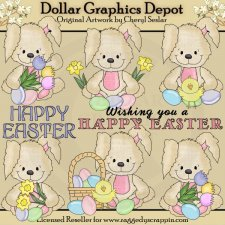 Happy Easter Bunny - Clip Art
