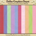Spring Polka Dots - Scrap Papers