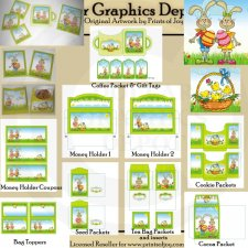 Easter Bunny Packets and Toppers - Printables