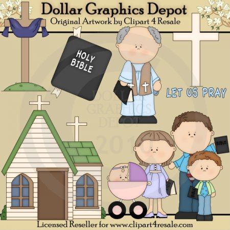 Going To Church - Clip Art - *DGD Exclusive*