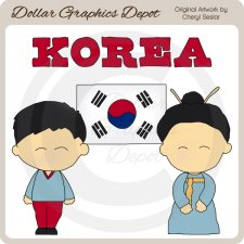 Korean Kids - Clip Art