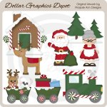 Christmas Village - Clip Art
