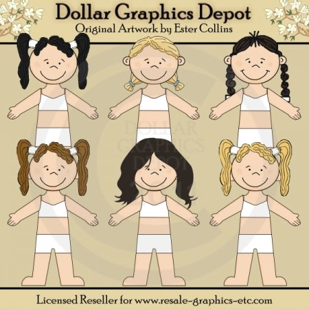 Dress Up Dolls - Clip Art