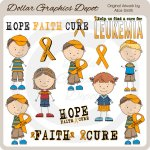 Leukemia Awareness Team Brandon - Clip Art *DGD Exclusive*