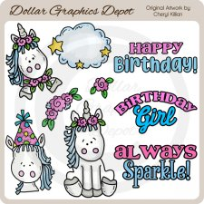 Sweet Unicorn - Clip Art