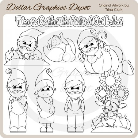Autumn Gnomes - Digital Stamps