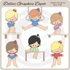 Gymnastics 1 - Clip Art - *DGD Exclusive*
