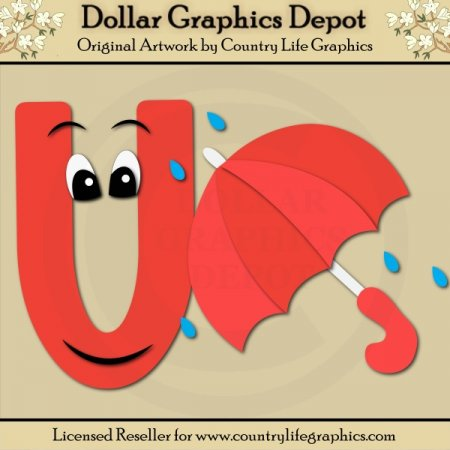 Alphabet Letter U - Cutting Files / Paper Piecing Patterns