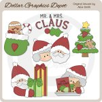 Mr. and Mrs. Claus - Clip Art - *DGD Exclusive*