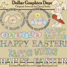 Happy Easter Sentiments - Clip Art